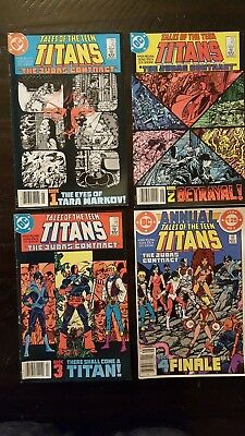 TALES OF THE TEEN TITANS #42,43,44 and annual #3