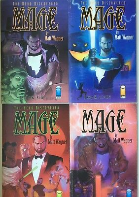 Mage The Hero Discovered + The Hero Defined Matt Wagner Image Trade PB Lot