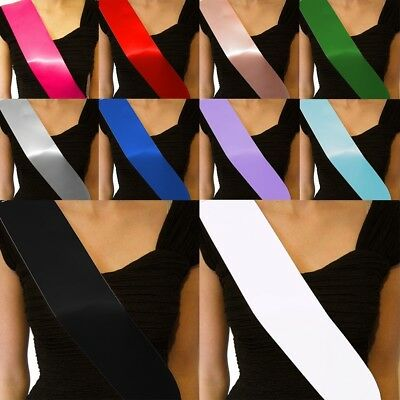 10pcs Make Your Own Blank Sash For Birthday Wedding Pageant Party