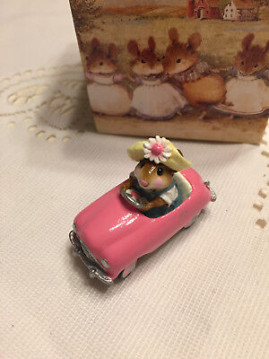 Wee Forest Folk Pedal Pusher Pink Car - Retired 2001 - WFF Box