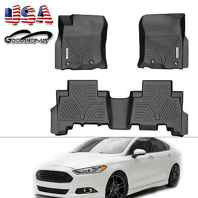 Front Rear Floor Mats Liner For 2013-2019 Toyota 4Runner All Weather Guard Black
