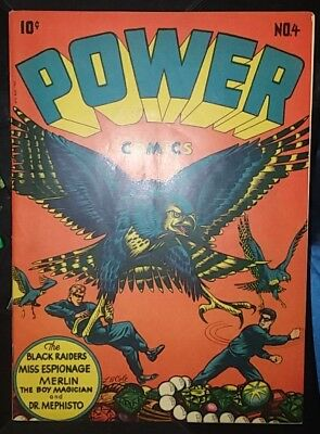 == POWER COMICS #4 HOLYOKE/NARRATIVE Publ. 1945 - L.B. COLE cover -Great Looking