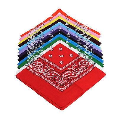 Lot of 3 6 12 Wholesale 100% Cotton Paisley Bandana Head Wrap