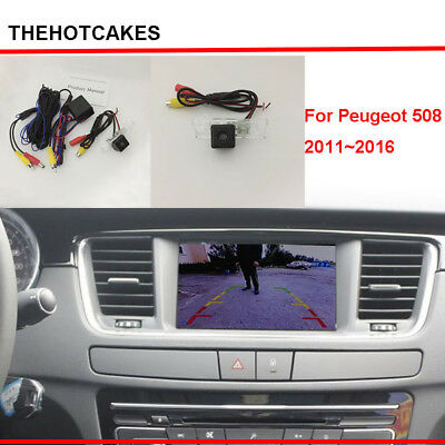 Car Rear View Camera sets For Peugeot 508 2011~2016 Original Screen Compatible