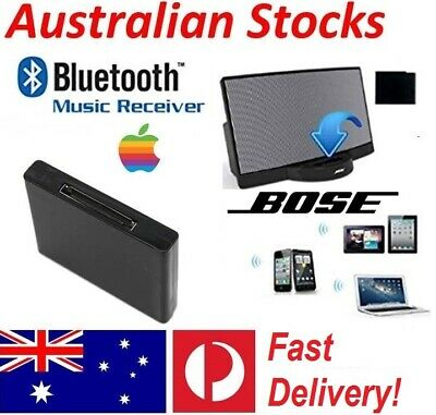 Bluetooth Music Audio Receiver Adapter for iPod iPhone 30Pin Bose Sound Dock AU