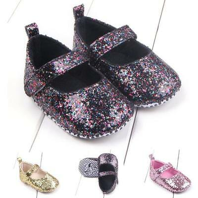 Fashion Toddler Girl Bling Soft Sole Crib Shoes Sequins Sneaker Baby Shoes