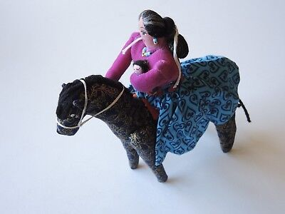 Navajo Woman with Baby on Horse Doll by Savana Nelson