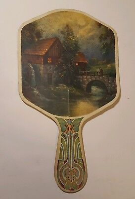 "Vintage Advertising Hand Fan M.R. Smith ""A Briardale Store""Panora & Jamaica, IA."