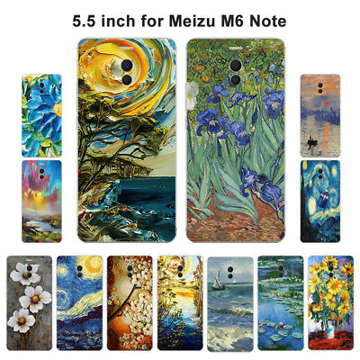 Soft TPU Silicone Case For Meizu M6 Note Protective Phone Back Cover Skin Retro