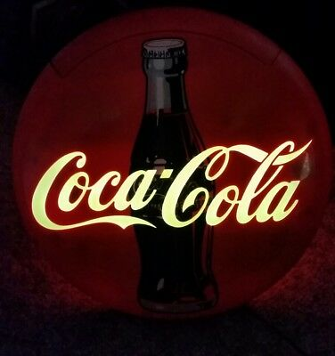 1995 Coca-Cola Coke Red Round Disc Telephone Phone Landline
