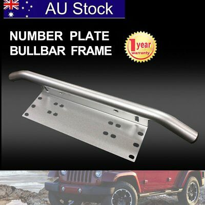 Number Plate Bullbar Frame For Driving Light Bar Mount Mounting Bracket UHF QH