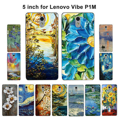 Soft TPU Silicone Case For Lenovo Vibe P1M Protective Back Covers Skins Retro