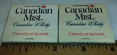 "Imported Canadian Mist Canadian Whisky 2"" Matchbooks Lot 2 Un-Struck w/Matches"