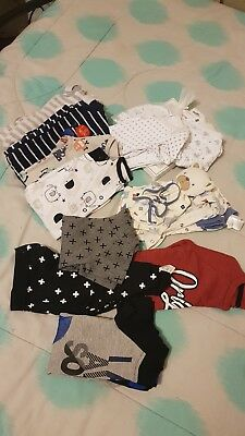 Bulk lot of baby boy clothes size 000