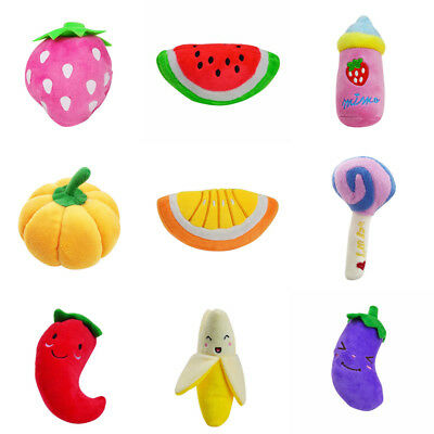 Dog Toys Pet Puppy Chew Squeaker Squeaky Plush Sound Cute Fruit & Vegetable Toy