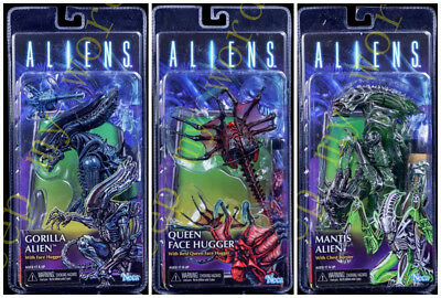 NECA ALIENS SERIES 10 Mantis Gorilla Alien Queen Face Hugger Action Figure New