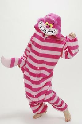 Animal Unisex Cheshire Cat Ones-ie Kigurumi Fancy Dress Costume Hoodies Pajamas