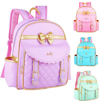 Waterproof Children Bowknot Backpack Cute Girl Kids School Bags Primary Student