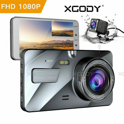 4'' HD 1080P Dual Lens Car DVR Reversing Camera Video Recorder Dash Cam G-sensor