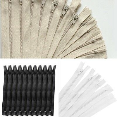 10pcs Nylon Coil Zipper Concealed Invisible Closed End Zip Tailor Sewing Craft