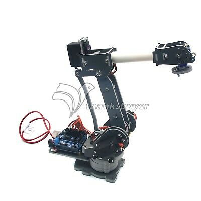 Robot 6DOF Mechanical Arm ABB with Servos Power Supply Arduino Board for DIY