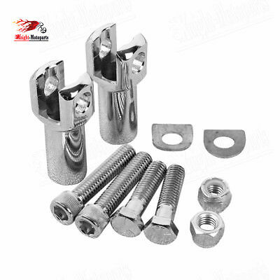 """2.25"""" Rear Passenger Foot Peg Support Mount Clevis Kit For Harley Softail 00-06"""