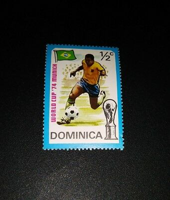 Briefmarke Stamp Pele Brasil Workd Cup 74 Munich Domincan Republic Soccer