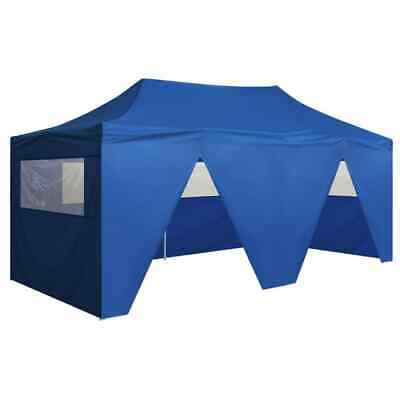 vidaXL Foldable Tent Pop-Up with 4 Side Walls 3x6m Blue Garden Gazebo Canopy