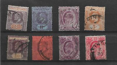 Straits Settlements King Edward Vii  Used Definitives   My Ref  424