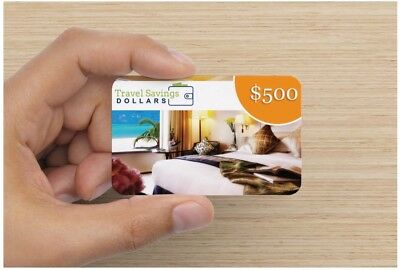 $ 500 travel savings card. Save up to 70% off online travel prices. Real Deal