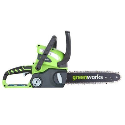Cordless Chainsaw 12-Inch 40V Tool-less Chain Tensioning Automatic Oiler Applies