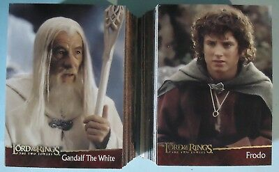 2002 Topps Lord of the Rings The Two Towers Near Complete Set - 88 of 90 Cards