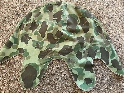 RARE ORIGINAL USMC M1 Helmet Cover Frogskin WW2 Korean War