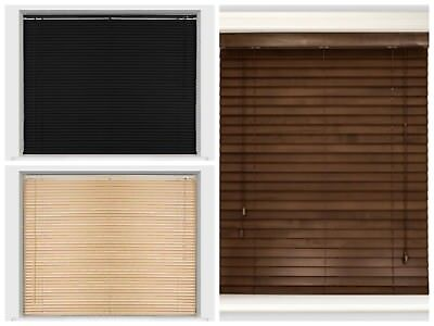 Wood Grain Wood Effect Venetian Blind Window Blinds Drop 150cm Office Home Decor