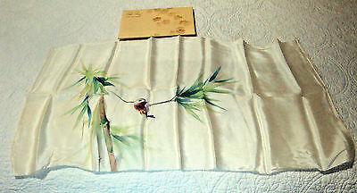 Vintage Roman 100% Silk Scarf Hand Painted Made in Japan with original packaging