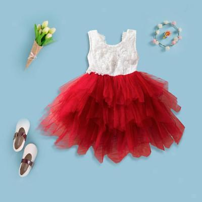 Kids Baby Girls Dress Summer Toddler Backless Wedding Party Tutu Tulle Dresses