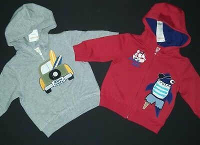 NEW Gymboree Baby Boy Hooded Zip Jacket Hoodie Lot 6 9 12 Months Spring Clothes