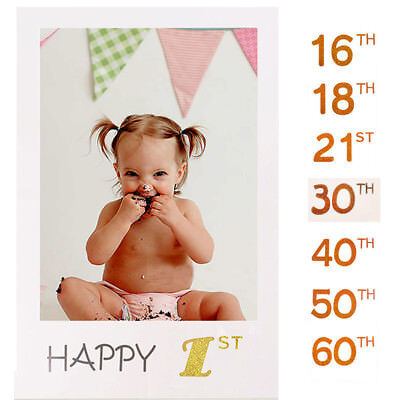 16/21/30/40/50/60 Happy Birthday Photo Booth Prop Selfie Frame Photography Party