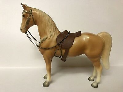 VTG BREYER PALOMINO WESTERN HORSE WITH SADDLE & REINS TRADITIONAL 12 x 9 1950's