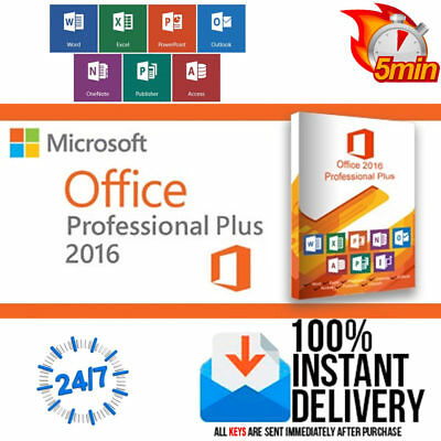 Nuevo Microsoft Office 2016 2017 Profesional Plus Version Completa -Oferta