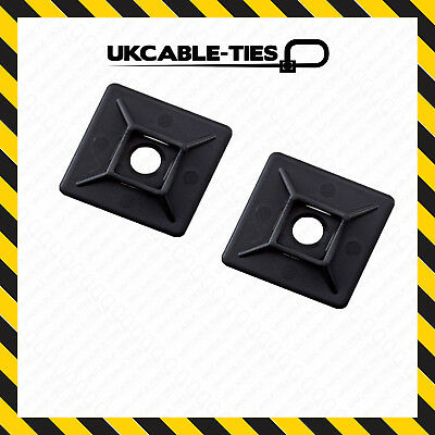100x 28mm x 28mm Self Adhesive Cable Tie Mounts Clips for Wire,Conduit, Tubing