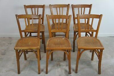 Vintage French 99 Luterma Bistro Chairs / Church Seating