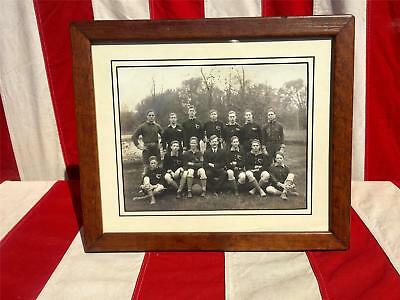 Vintage Antique Soccer/Football Team Photograph early 1900's Framed 8x10 Yonkers