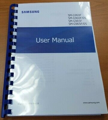 Samsung Galaxy S9 Plus Sm - G965F Printed Manual User Guide 278 Pages A5