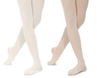 Ladies/ Girls Seamless BALLET TIGHTS Footed Dance. Pink or White - ALL SIZES!