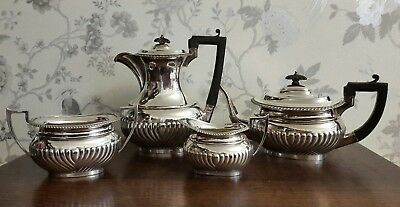 A Beautiful Antique Silver Plated 4 Piece Tea Service by Hamilton & Inches