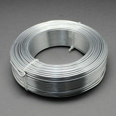 2mm Aluminium Craft Florist Wire Jewellery Making WHITE SMOKE GRAY 3m lengths