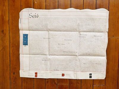 1843 Jamaica and Cornwall interest 3 page Vellum Deed Document Indenture