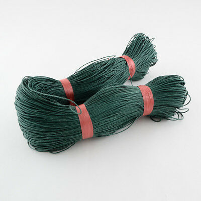 DARK GREEN WAXED COTTON CORD 10 metres x 1mm Shamballa Macrame Jewellery Making