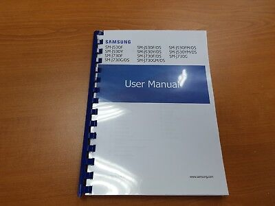 Samsung Galaxy J7 J730F (2017) Printed Instruction Manual Guide 141 Pages A5